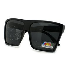 22be49216e Black Polarized Lens Super Oversized Retro Square Sunglasses Unisex --  Click image to review more