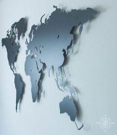World Map Wall Art, Montage, Abstract, Artwork, Castle, Design, Medium, Minimalist Living Rooms, Minimalism