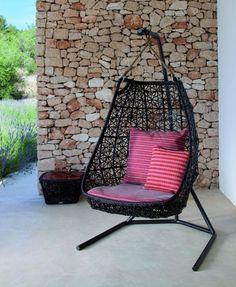 Cool rattan H ngesessel Designs mit gestell Patricia Urquiola kissen