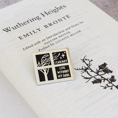 Wuthering Heights Enamel Pin Literary Enamel Pin Badge