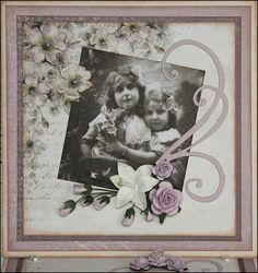 lovely heritage scrapbook page...