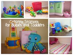 Creating Stations for Babies and Toddlers and some Storage Ideas