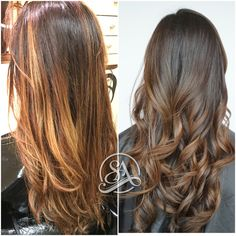 Balayage in Greenville SC. Hair Salon in Greenville SC. Fusion extensions