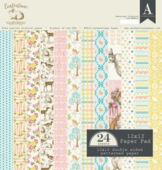 Authentique - Eastertime 12x12 Textured Double-Sided Paper Pad (Easter, Spring)