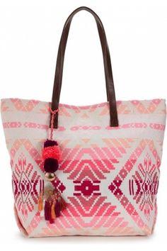 Women's beach bags - Ikat Beach Bag