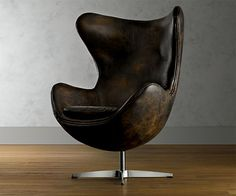 The 1950s Leather Copenhagen Chair from Restoration Hardware