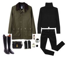 """rainy day again"" by francoisdh ❤ liked on Polyvore featuring A.P.C., CÉLINE, Hermès, Alexander McQueen, Gucci, Bardot, Timex, Byredo and Deborah Pagani"