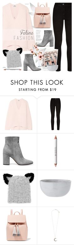 """Feline Fashion"" by mylkbar ❤ liked on Polyvore featuring Acne Studios, Paige Denim, Gianvito Rossi, Kerr®, Rouge Bunny Rouge, Eugenia Kim, Loeffler Randall, Accessorize and felinefashion"