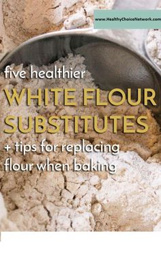 5 healthier white flour alternatives + tips for replacing flour when baking via … – Baking – Recipe Gluten Free Baking, Healthy Baking, Ensalada Thai, Cooking Recipes, Healthy Recipes, Gf Recipes, Healthy Drinks, Healthy Tips, Healthy Meals