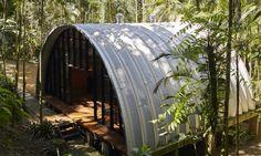 Marko Brajovic designed Arca, a prefab retreat with passive solar principles.