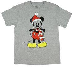 Amazon.com: Christmas Disney Santa Mickey Mouse Graphic T-Shirt: Clothing