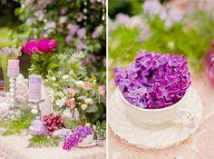 spring lilac wedding decor