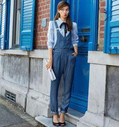 Adrienne Vittadini Femmes À Enfiler Lin Pantalon-bleu-variété