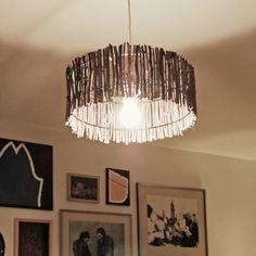 Pantalla lámpara central living