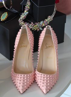 Baby Pink Spiked Louboutins! These need to be in my life