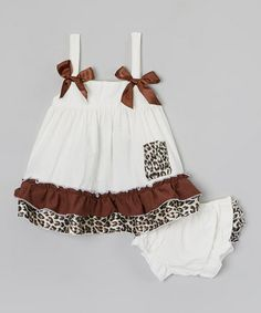 Look what I found on #zulily! Cream Tank Dress & Diaper Cover - Infant by Bestaroo #zulilyfinds