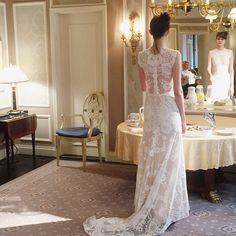 Claire Pettibone Romantique 'Cheyenne' wedding dress at New York International Bridal Week | Photo: Ceremony http://www.clairepettibone.com/romantique/