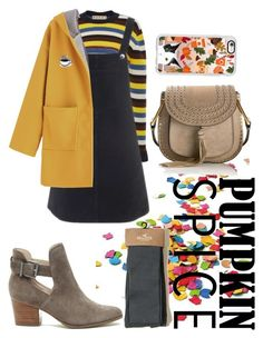 """""""pumpkin spice and everything nice"""" by milkkills ❤ liked on Polyvore featuring Hollister Co., Marni, Topshop, Casetify, PINTRILL, Sole Society and Chloé"""