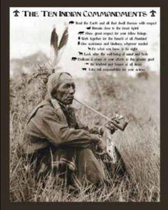 ten-indian-commandments-native-american-sitting-art-poster-print.jpg (389×488)