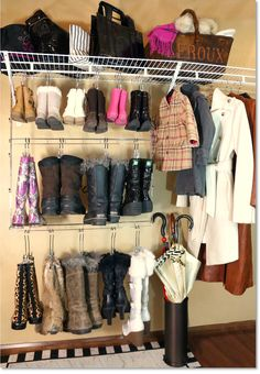 Deluxe 12 Pair Hanging Boot Storage   Double Decker Boot Caddy™ With 12  Boot Hangers™