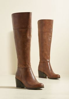 Good News and Bold News Boot in Brown. We have two things to tell you about these brown boots from Madden Girl. #brown #modcloth