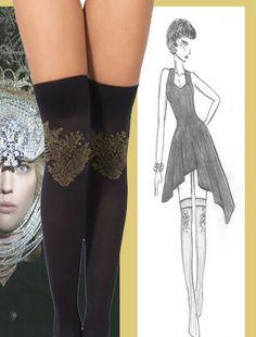 MABEL OVER KNEE Baroque, Stockings, Age, Embroidery, Style, Fashion, Socks, Moda, Needlepoint