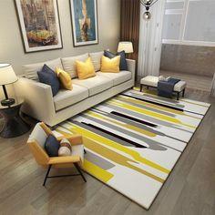 Living Room Decor Colors, Colourful Living Room, Home Living Room, Interior Design Living Room, Living Room Designs, Yellow Living Room Furniture, Modern Living Room Decor, Apartment Interior Design, Bedroom Decor
