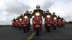 Starting on September 2010 and taking 4 days, 10 Red Arrows pilots and 4 Fighter Pilots from The Battle of Britain Memorial Flight will ride Vespa scoot. Red Arrow, Vespa Scooters, Battle Of Britain, Fighter Pilot, Arrows, Videos, Arrow