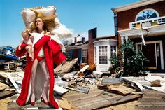 One of favourite ones of all times: Viktor & Rolf campaign by David LaChapelle with Anja Rubik #destructiontheme