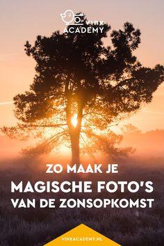 Fotografie inspiratie en tips: zo fotografeer je een zonsopkomst. Zet je wekker vroeg, want het is echt de moeite waard. De zonsopkomst geeft je foto's vaak een magische sfeer. In het artikel, geschreven in het Nederlands, tips hoe je een zonsopkomst goed fotografeert. #zonsopkomst #fototips