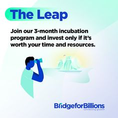We know that being an early-stage entrepreneur is not easy, especially if your time and resources are limited. Don't worry, we've made it our mission to support entrepreneurs just like you! 🙌 With The Leap, our 3-month incubation program, you can get a full refund if you don't see the value for you and your business by the end of it. Be 100% sure of your investments while accessing 18h of virtual mentorship, getting lifetime access to our community, and creating your downloadable… Business Planning, Don't Worry, Pitch, No Worries, Entrepreneur, Investing, Connection, Stage, Success