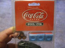 Original Coca Cola Polar Bear Pool Cue With Soft Case Chalk and Extra Tips #2