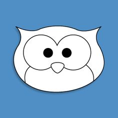 1000 images about costumes on pinterest owl mask - Outline gufo stampabile ...