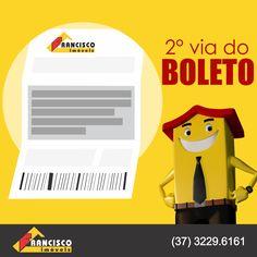Precisando da sua 2° via do boleto do aluguel? Acesse nosso site, na aba área do cliente você consegue imprimir a 2° via do boleto. Rápido e prático. www.franciscoimoveis.com.br