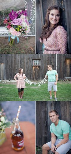 Traerse City Engagement Session + DIY Banner by Hey Gorgeous Eents + Jenna McKenzie Photography