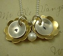 Love Blossoms Necklace...can be customized for 1 Blossom or several~ Mom And Grandma, Ball Chain, Blossoms, Hand Stamped, Dangles, Drop Earrings, Pearls, Sterling Silver, Gold