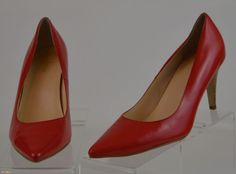 Cole Haan Nike Air Womens 10 M Red Leather Classic Heels Ex Used #ColeHaan #PumpsClassics #WeartoWork