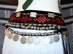 Tribal-Gürtel mit langen Fransen Tribal Style von neemaheTribal