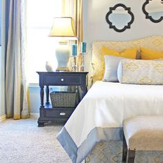 Attractive Bedroom Design, Pictures, Remodel, Decor And Ideas   Page 26 | Bed U0026 Bath |  Pinterest | Blue Yellow Bedrooms, Blue Yellow And Bedroou2026