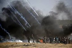 Fresh protests were expected Tuesday a day after the Israel army killed 59 Palestinians during clashes and protests along the Gaza border against the US embassy opening in Jerusalem in the conflict's bloodiest day in years. Israel Gaza, Israel News, United Nations Human Rights, Jared Kushner, Iwo Jima, Military Personnel, Red Sea, Questions, Far Away