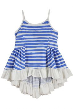 Blue Stripe Singlet by Paper Wings for Little Skye e62e55e36db83