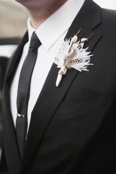 Boutonniere. Shot by Christina Szczupak