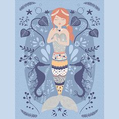 Hawthorne Threads - Calypso - Calypso Quilt Panel in Poseidon