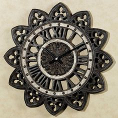 Gothic Decor Arch Accents Wall Clock Sun Shaped