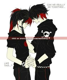 Photo of emo anime guy for fans of anime guys. Cute Emo Couples, Scene Couples, Anime Couples, Anime Love, Emo Anime Girl, Blue Anime, Emo Guys, Gothic Anime, Emo Love Quotes