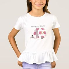 This vintage trailer shirt for girls is so cute!  It's perfect for the happy camper or RV lover.