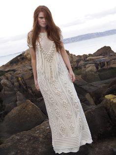 Fantasy Aran Dress from West End Knitwear's Aran Craft collection 2013 by NATALLIA KULIKOUSKAYA, Ireland