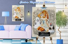 Shih Tzu Print Fine Art Canvas Une Parisienne by NobilityDogs Shih Tzu, Canvas Art, Gallery Wall, Fine Art, Frame, Dogs, Etsy, Home Decor, Picture Frame