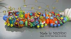 Calypso  Glaskunst-Set von Michou P. Anderson von michoudesign
