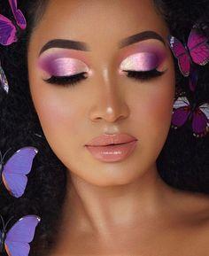 Eyeshadow Look by Eye Makeup Steps, Eye Makeup Art, Skin Makeup, Makeup Inspo, Eyeshadow Makeup, Makeup Inspiration, Eyeshadow Palette, Purple Eyeshadow Looks, Purple Eye Makeup